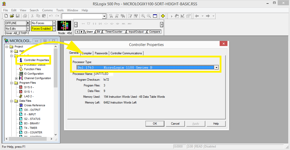Sample: MicroLogix - FACTORY I/O
