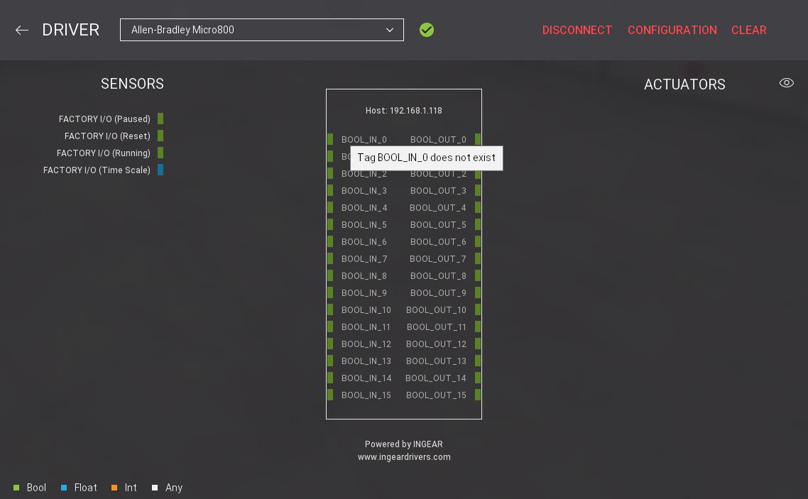 Setting up Micro800 - FACTORY I/O