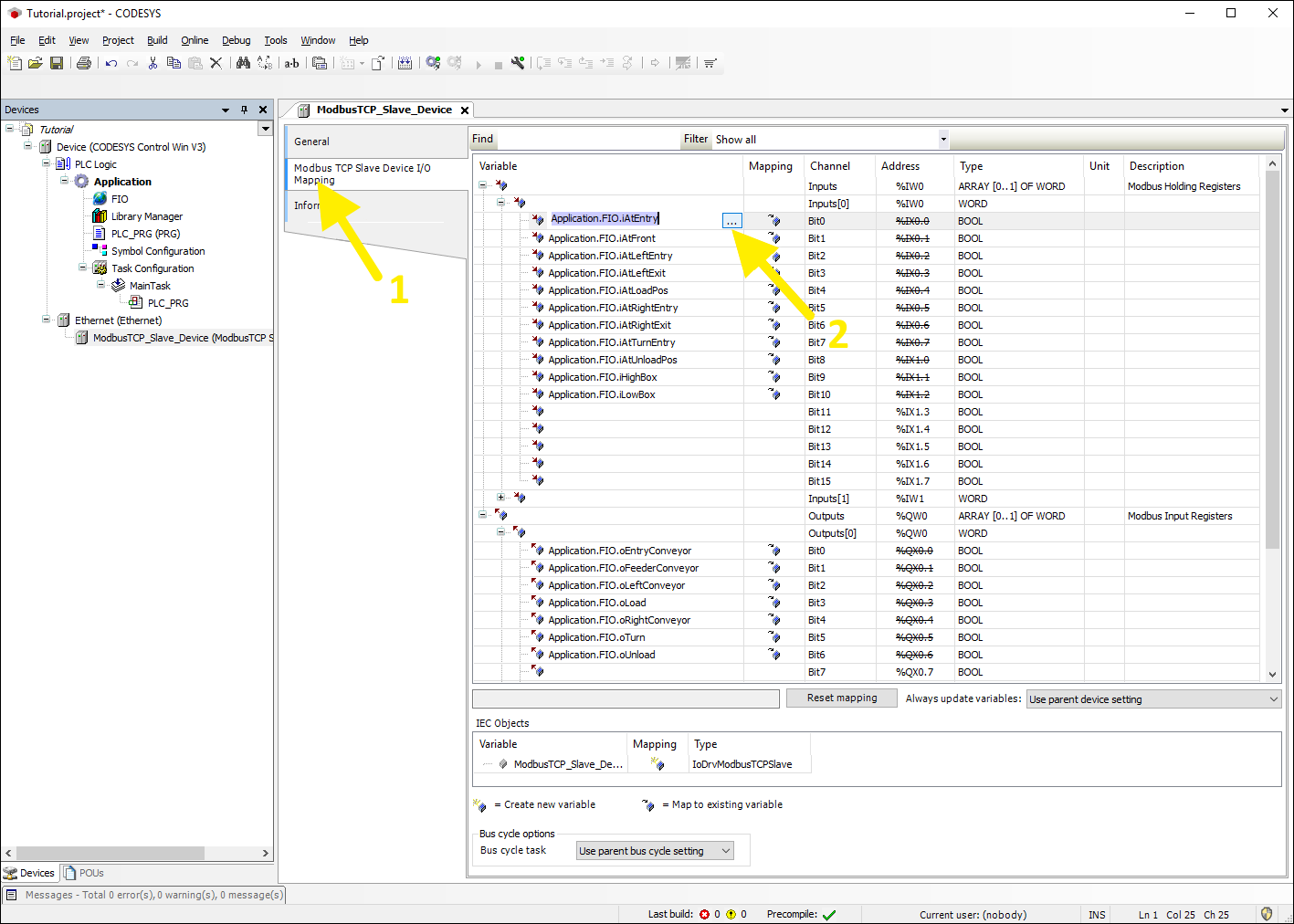 Setting up CODESYS Modbus TCP - FACTORY I/O