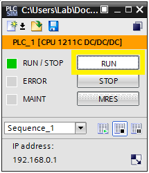 Sample: S7-PLCSIM V13/14/15 - FACTORY I/O